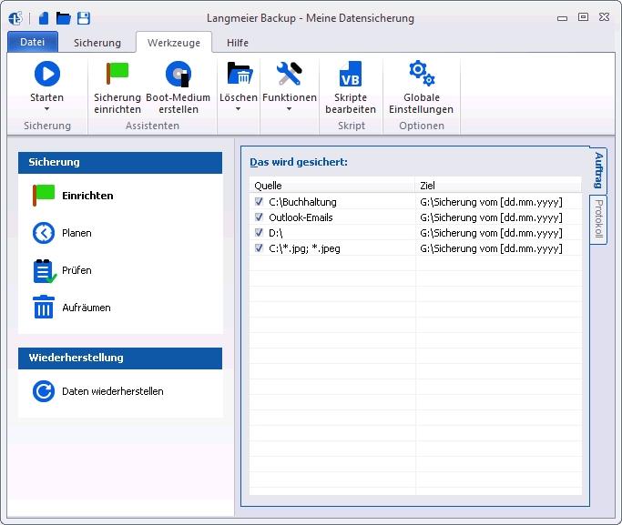 Langmeier Backup - Meine Datensicherung